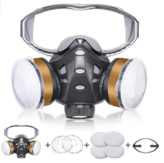 Bild zu Generic 8200 Atemschutzmaske inklusive Filter mit Schutzbrille für 14,99€