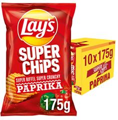 Bild zu Lay's Superchips Paprika, 10er Pack (10 x 175 g) ab 8€ (Vergleich: 12,95€)