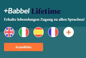 Bild zu [nur heute?] Babbel Lifetime Zugang zu allen Sprachen für 179,99€
