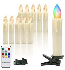 Bild zu EINFEBEN 10x LED RGB Weihnachtskerzen kabellos (batteriebetrieb) inkl. Fernbedienung für 12,59€ + andere Stückzahlen mit 30% Rabatt