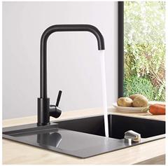 Bild zu CECIPA Wasserhahn schwarz aus Edelstahl für 19,99€