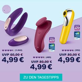 Bild zu 3 Satisfyer Modelle für je 4,99€ mitbestellbar ab einem gewissen Bestellwert