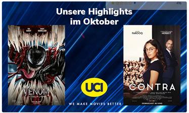 Bild zu UCI Kinotickets ab 6,80€ pro Vorstellung/Person