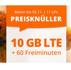 Bild zu 10 GB LTE Datenflat und 60 Freiminuten im o2 Netz für 6,66€/Monat