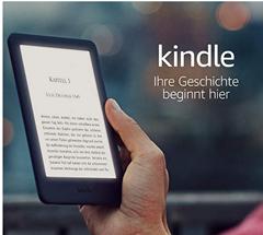 """Bild zu ,,Kindle, jetzt mit integriertem Frontlicht"""" – mit Werbung für 49,99€"""