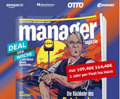 Bild zu [Leserservice Deutsche Post] Jahresabo Manager Magazin für 109,40€ + bis zu 95€ Prämie