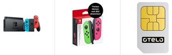 Bild zu Otelo Allnet/SMS Flat mit 15GB Datenvolumen im Vodafone Netz für 19,99€/Monat inkl. Nintendo Switch + Joy-Con 2er-Set Controller für 1€