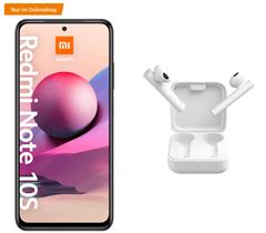 Bild zu Xiaomi Redmi Note 10S inkl. Xiaomi Mi True Wireless Earphones 2 für 1€ mit 8GB LTE Datenflat, SMS und Sprachflat im o2 Netz für 12,99€/Monat