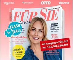 """Bild zu Leserservice Deutsche Post: 48 Ausgaben (Laufzeit 2 Jahre) der Zeitschrift """"Für Sie"""" für 153,40€ + bis zu 145€ Prämie"""