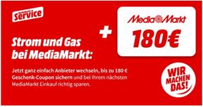 Bild zu [Super – endet heute] MediaMarkt: Strom & Gas zu Sommerpreisen abschließen + 150€ oder 180€ MediaMarkt/Saturn Gutschein erhalten – große Ersparnis möglich