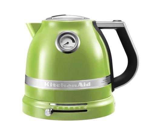 Bild zu KitchenAid 5KEK1522E Artisan Wasserkocher (1,5l, einstellbare Temperatur) in Apfelgrün für 99,90€ (VG: 139€)