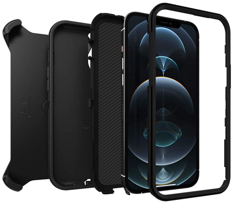 Bild zu OtterBox Defender (robuste, sturzsichere und 3-lagige Schutzhülle für Apple iPhone 12 Pro Max, schwarz) für 14,90€ (VG: 42,99€)