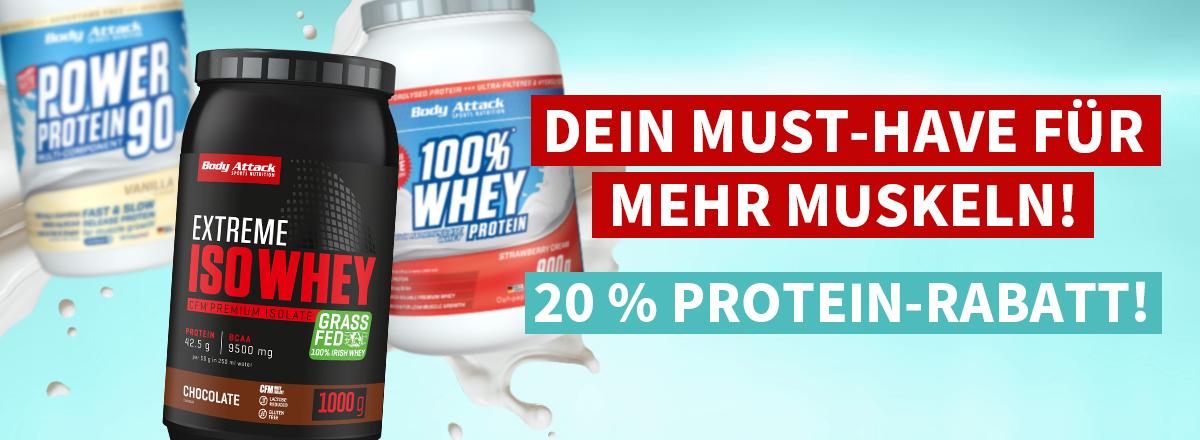 Bild zu Body Attack: 20% Rabatt auf alle Proteine im Shop