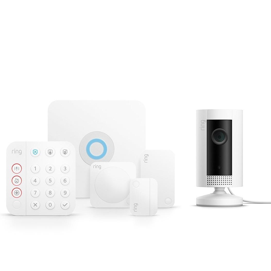 Bild zu Ring Alarm 2.0 Sicherheitssystem Komplett-Set mit Ring Indoor Cam für 185€ (Vergleich: 232,90€)