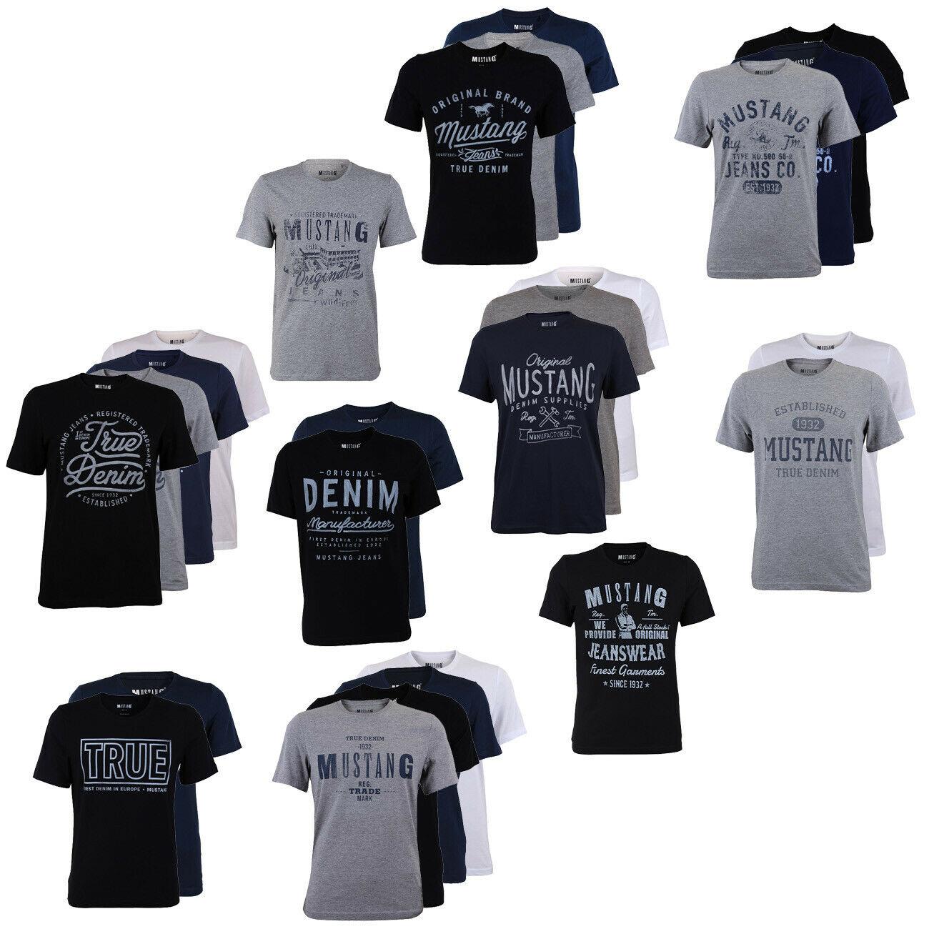 Bild zu 4er Pack Mustang Herren T-Shirts für 39,95€ (Vergleich: 63,80€)