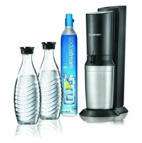Bild zu Sodastream Crystal 2.0 BLACK Wassersprudler inkl. 2 Glaskaraffen für nur 67,88€ (VG: 91,03€)