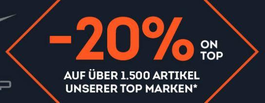 Bild zu SportScheck: 20% Rabatt auf die TOP Marken