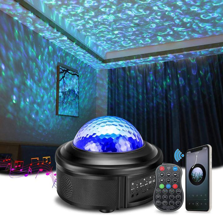 Bild zu 360° Sternenhimmelprojektor (10 Modi, Bluetooth Musikwiedergabe) für 17,94€ dank 50% Rabatt