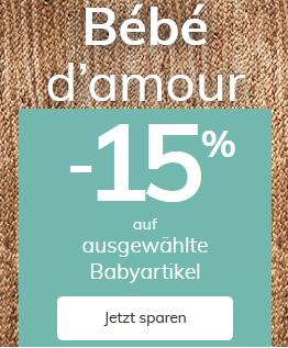 Bild zu Vertbaudet: 15% Rabatt auf ausgewählte Babyartikel